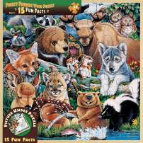 Wood Fun Facts - Forest Friends 48pc Wood Puzzle