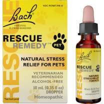 Bach RESCUE REMEDY PET Dropper, 10mL – Natural Homeopathic Stress Relief Drops for Pets, Bach Rescue Remedy Pet, 10 ml (041016)