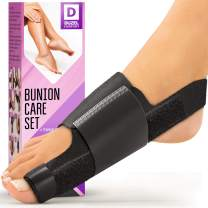 Orthopedic Bunion Corrector (2pcs) - Bunion Splint | Non-Surgical Hallux Valgus Correction - Hammer Toe Straightener - Big Toe Straightener - Hallux Valgus Pain Relief Fits Men and Women