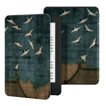 Ayotu Case for All-New Kindle(10th Gen, 2019 Release) - PU Leather Cover with Auto Wake/Sleep-Fits Amazon All-New Kindle 2019(Will not fit Kindle Paperwhite or Kindle Oasis),Auspicious crane
