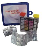2-Way Swimming Pool Test Tablet Kit with Case - Tests pH and Chlorine Levels