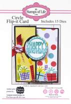 Circle Flip It Die Card Folds to A2 DIY Craft Dies for Card-Making and Scrapbooking by The Stamps of Life