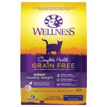 Wellness Complete Health Grain Free Natural Dry Cat Food, Indoor Healthy Weight Chicken Recipe, 11.5-Pound Bag
