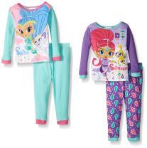 Nickelodeon Girls' Shimmer and Shine 4-Piece Pajama Set