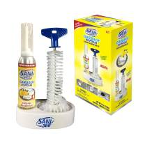 Sani Sticks Sani 360 Garbage Disposal Cleaner Kit —Lemon Scent, 10oz Bottle of Foam with Cleaning Brush and Tray - 8 to 10 Uses