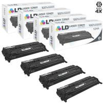 LD Remanufactured Toner Cartridge Replacement for HP 124A Q6000A (Black, 4-Pack)