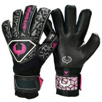 Renegade GK Triton Goalie Gloves with Microbe-Guard (Sizes 5-11, 3 Styles, Level 2) Pro-Tek Fingersaves & Durable 3.5+3MM Super Grip | Great Hard Ground Goalkeeper Glove | Based in The USA