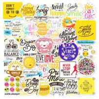 100 Pcs Inspirational Words Stickers for Hydroflasks, Motivational Quote DIY Stickers for Teens and Adults Kids Notebook Scrapbooking Trendy Vinyl Positive Sticker for Water Bottles Book Laptop