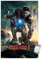 "Trends International Poster Mount Marvel Cinematic Universe: Iron Man 2 - One Sheet, 14.725"" x 22.375"", Premium Poster & Mount Bundle"