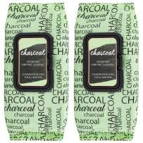 Body Prescriptions -2 Pack (60 Count Each) Charcoal Cleansing Facial Wipes