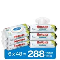 HUGGIES Refreshing Clean Baby Wipes, 6 Pack, 288 Sheets Total