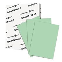 Springhill Green Colored Cardstock Paper, 65lb Cover, 176 gsm, 8.5x11 card stock, 1 Ream / 250 Sheets - Medium Weight Cardstock with Vellum Finish (014050R)