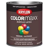Krylon K05622007 Colormaxx Brush On Paint, Quart, Leather Brown