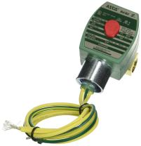 """ASCO 8262H020-12/DC Brass Body Direct Acting General Service Solenoid Valve, 1/4"""" Pipe Size, 2-Way Normally Closed, Nitrile Butylene Sealing, 3/32"""" Orifice, 0.21 Cv Flow, 12V/DC"""