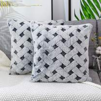 Skrwadi Pack of 2 Throw Pillow Covers,Faux Fur Throw Pillowcovers Cushion Covers Luxury Soft Decorative Pillowcase Fuzzy Pillow Covers for Bed/Couch,20x20 Inch Dark Grey