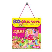 BAZIC Princess Sticker Assorted Stickers, Toddler Kid Activity Learning Coloring Book Fairytale, Reward Gift Fun Incentive for Kids Girls Boys (80/Bag)