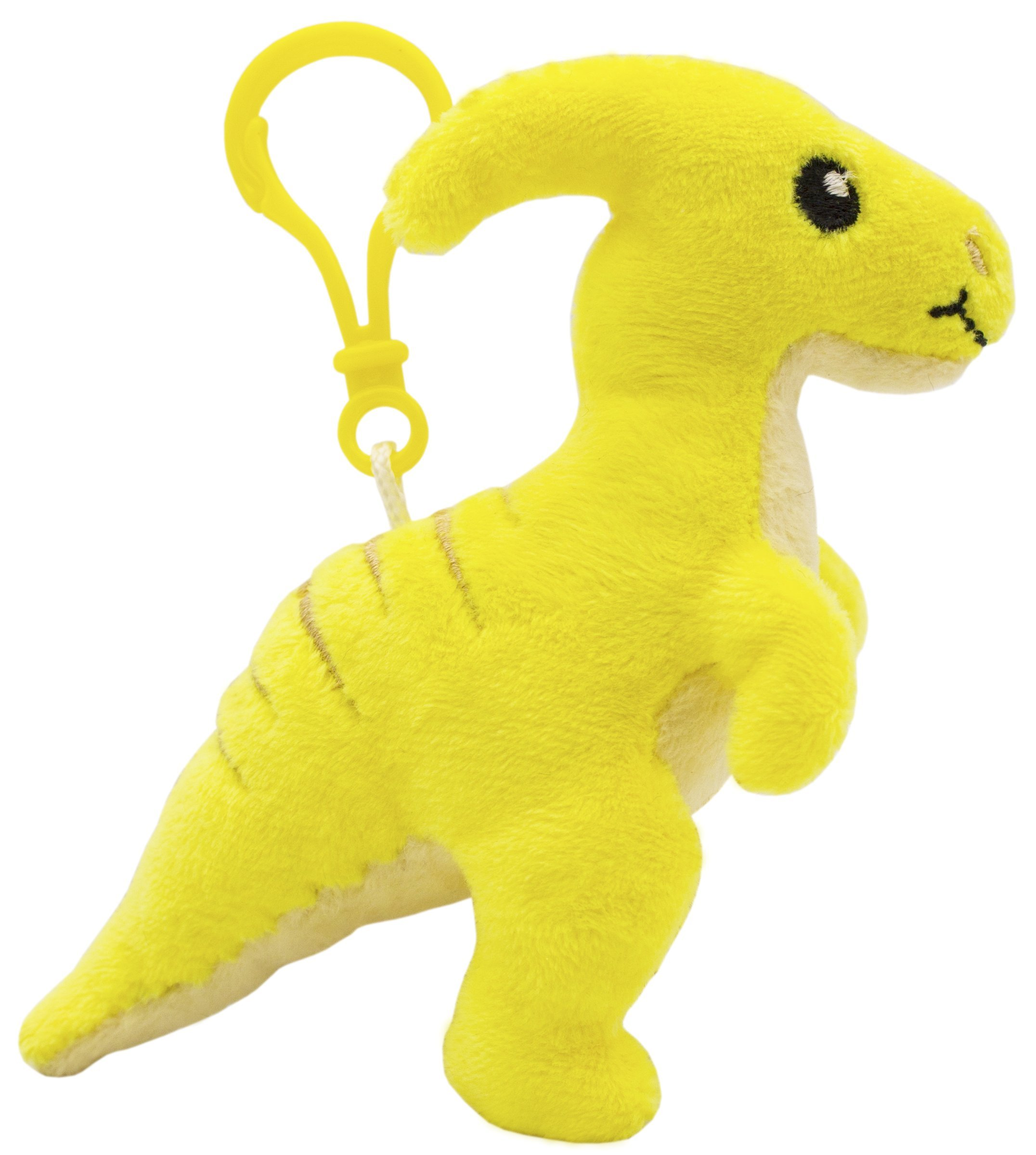 Scentco Dino Dudes Backpack Buddies - Scented Plush Toy Dinosaur Clips - Parasaurolophus Pineapple