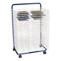 """Sprogs Art Drying Rack, 23 3/4"""" W x 17 1/2"""" D x 38"""" H, Blue/White, SPG-LED1027W-SO"""