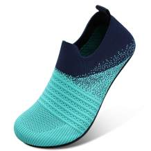 Scurtain Unisex Women Slippers Men Slippers Sock Breathable Knitted Mesh Barefoot quick dry Water Shoes for Women Men Athletic Hiking Water Shoes Beach Shoes Aqua Swim Shoes with Non-slip rubber Sole