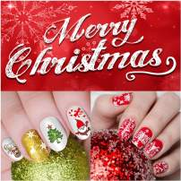 Christmas Nail Stickers - 12 Sheets Nail Decals by iMethod with 1200 Xmas & Winter Designs, Easy to Apply and Remove, Perfect for Women, Girls and Kids DIY Christmas Nail Art at Home