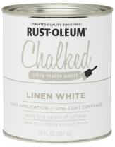 Rust-Oleum 285140 Ultra Matte Interior Chalked Paint 30 oz,  Linen White