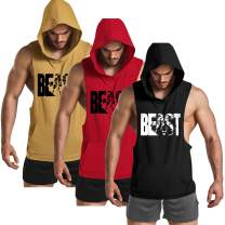 GymRevolution Men's Muscle Printed Workout Tank Tops Gym Fitness Sleeveless Hoodie