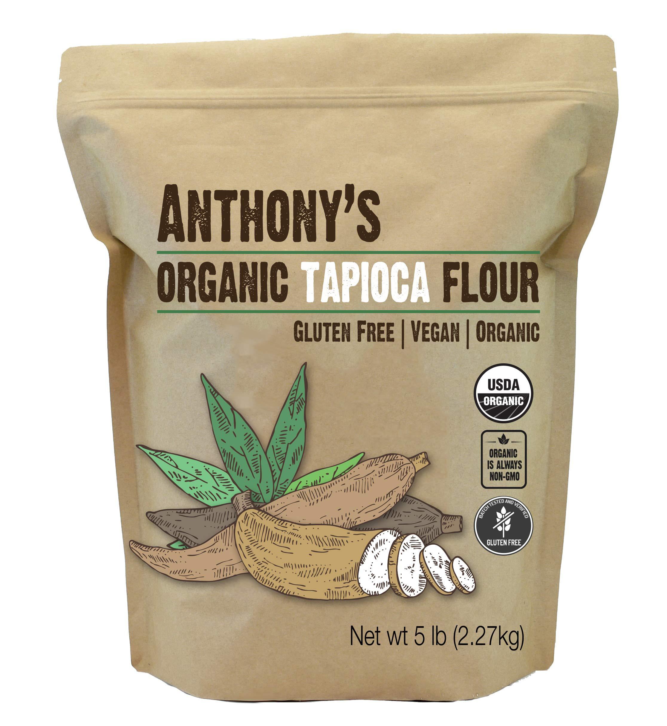 Anthony's Organic Tapioca Flour Starch, 5lbs, Gluten Free & Non GMO
