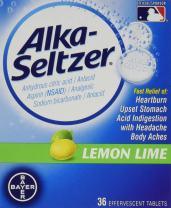 Alka- Seltzer Lemon Lime, 36-Count (Pack of 2)