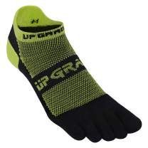 UGUPGRADE Toe Socks, Everyday Run Midweight Low Cut Ankle Lycra Toesocks with Heel Tab for Men Women