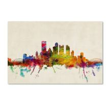 Pittsburgh, Pennsylvania by Michael Tompsett, 22 by 32-Inch Canvas Wall Art