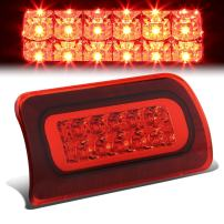 Red Housing Dual Row LED 3rd Third Tail Brake Light Lamp Replacement for Chevy S10 GMC Sonoma Standard Cab 94-03