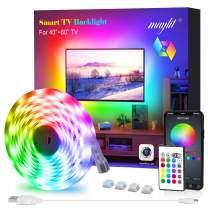 LED Strip Lights, Maylit TV LED Backlight 6.56ft for 40-60in TV Bluetooth Control Sync to Music, USB Bias Lighting TV LED Lights Kit with Remote - RGB 5050 LEDs Color Changing Lights for Room Bedroom