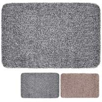 "BEAU JARDIN Indoor Doormat Super Absorbs Mud 18""x28"" Latex Backing Non Slip Door Mat for Small Front Door Inside Floor Dirt Trapper Mats Cotton Entrance Rug Shoe Scraper Machine Washable Carpet Fiber"