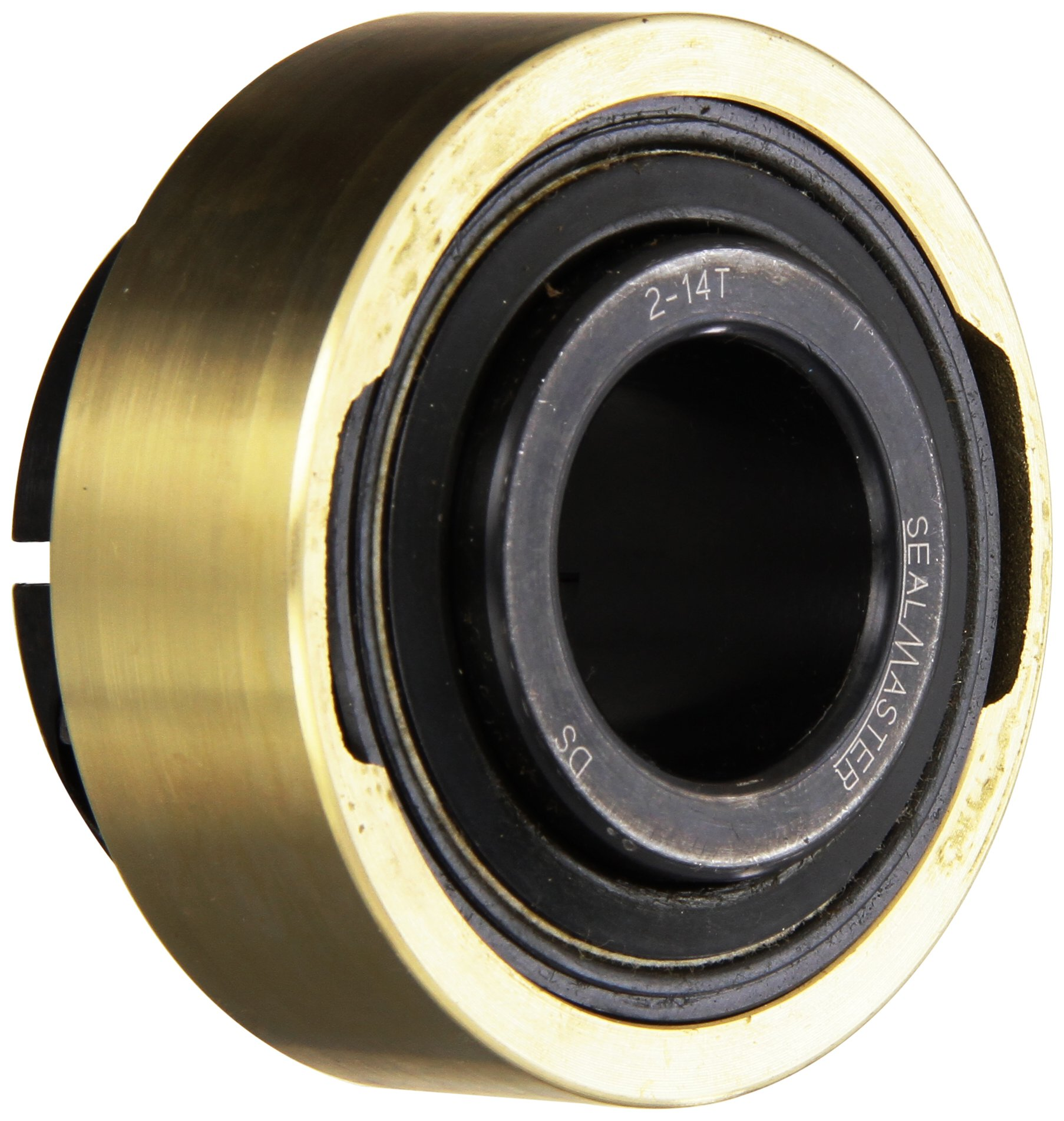 """Sealmaster AR-2-14T Standard Duty Mounted Bearing Expansion Insert, Skwezloc Collar, Felt Seals, 1-1/4"""" Bore, 3.140"""" OD, 1-3/4"""" Overall Width, 1-1/64"""" Outer Ring Width"""
