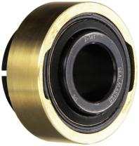 "Sealmaster AR-2-14T Standard Duty Mounted Bearing Expansion Insert, Skwezloc Collar, Felt Seals, 1-1/4"" Bore, 3.140"" OD, 1-3/4"" Overall Width, 1-1/64"" Outer Ring Width"