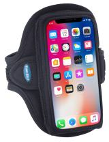 Tune Belt Model AB90 Armband for iPhone 11 Pro, SE (2020 2nd Generation), X/Xs, Galaxy S8 S9 S10e and Google Pixel 3/4 - for Running & Working Out - Sweat-Resistant (Black)