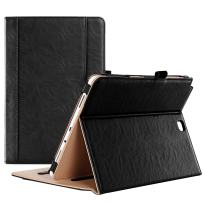 ProCase Galaxy Tab A 9.7 Case, Standing Cover Folio Case for 2015 Galaxy Tab A Tablet (9.7 Inch, SM-T550 P550), with Multiple Viewing Angles, Document Card Pocket (Black)