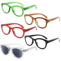 Eyekepper Cat Eye Reading Glasses for Women 5-Pack Oversize Ladies Readers