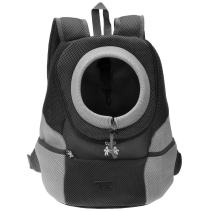 Mogoko Comfortable Dog Cat Carrier Backpack, Puppy Pet Front Pack with Breathable Head Out Design and Padded Shoulder for Hiking Outdoor Travel