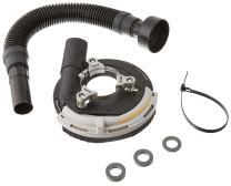 "Dustless Technologies D5835 DustBuddie XP Universal Dust Control Attachment for Grinders, 5"", Black/Grey"