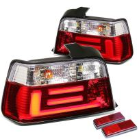 DNAMotoring TL-LED-3D-E3692-4D-CL Tail Light Assembly, Driver and Passenger Side