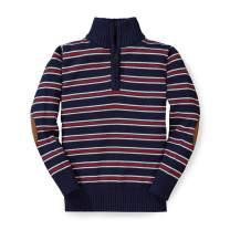 Hope & Henry Boys' Long Sleeve Half Zip Pullover Sweater