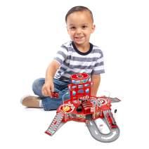 World Tech Toys Diecast Cruisers 31-Piece Fire Station Depot Playset