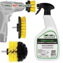 Mold and Mildew Remover Kit: RMR-141 Black Anti Mold Killer Cleaner Spray for Bathroom Stain Removal Control Eraser, Drill Scrub Brush Power Scrubber Detailing Automatic Scrubbing Attachment Set