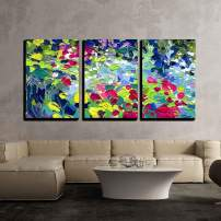 """wall26 - 3 Piece Canvas Wall Art - Oil Painting Vector Illustration. I, The Artist, Owns The Copyright - Modern Home Decor Stretched and Framed Ready to Hang - 16""""x24""""x3 Panels"""