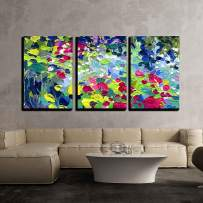 """wall26 - 3 Piece Canvas Wall Art - Oil Painting Vector Illustration. I, The Artist, Owns The Copyright - Modern Home Decor Stretched and Framed Ready to Hang - 24""""x36""""x3 Panels"""