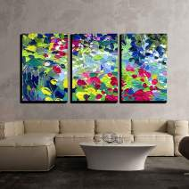 "wall26 - 3 Piece Canvas Wall Art - Oil Painting Vector Illustration. I, The Artist, Owns The Copyright - Modern Home Decor Stretched and Framed Ready to Hang - 24""x36""x3 Panels"