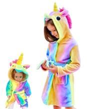 Unicorn Bathrobe Matching Doll & Girls, Unicorn Gifts for Girls