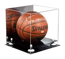 Better Display Cases Acrylic Full Size Basketball Display Case with Risers