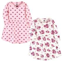 Hudson Baby Baby and Toddler Girl Cotton Dresses, Rose, 0-3 Months